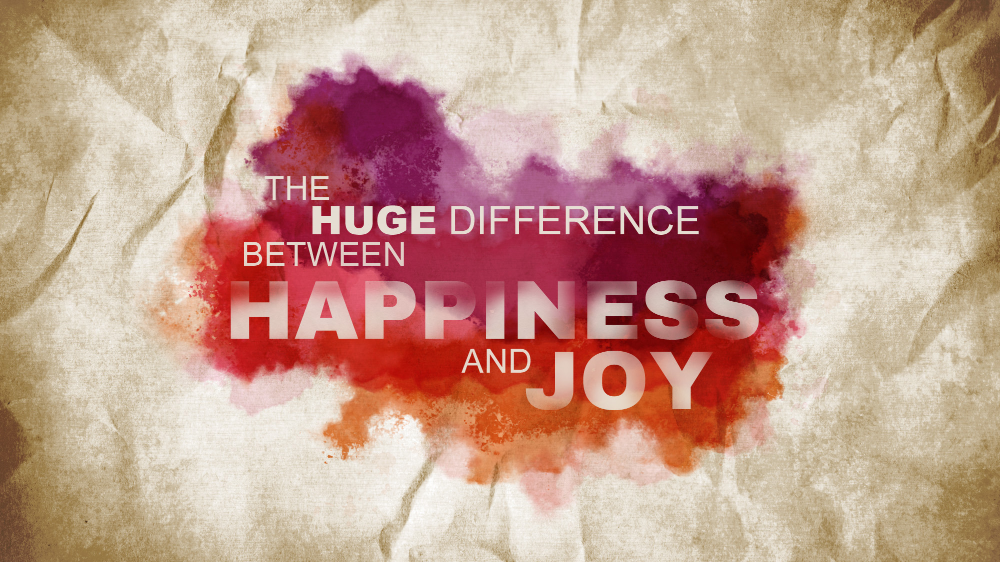 3715 The Huge Difference Between Happiness And Joy Pastor
